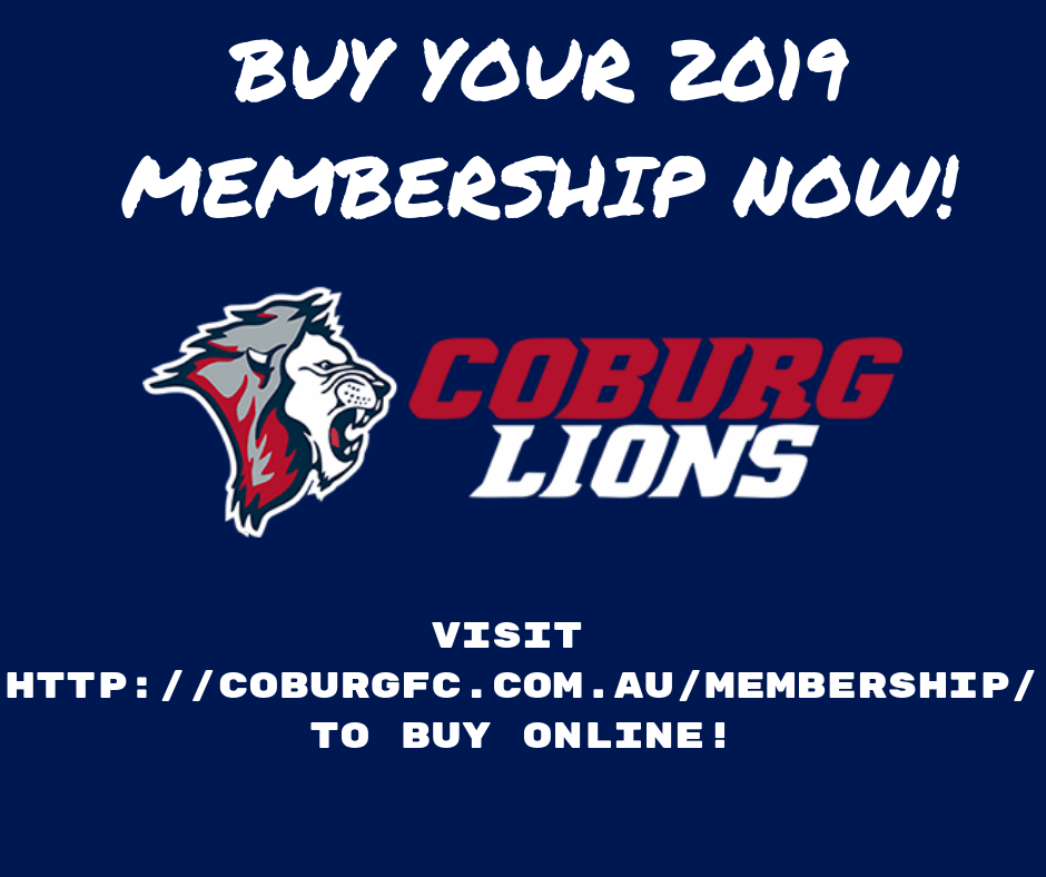 f6ff10530 2019 Memberships now on sale! - The Official Website of the Coburg Football  Club.