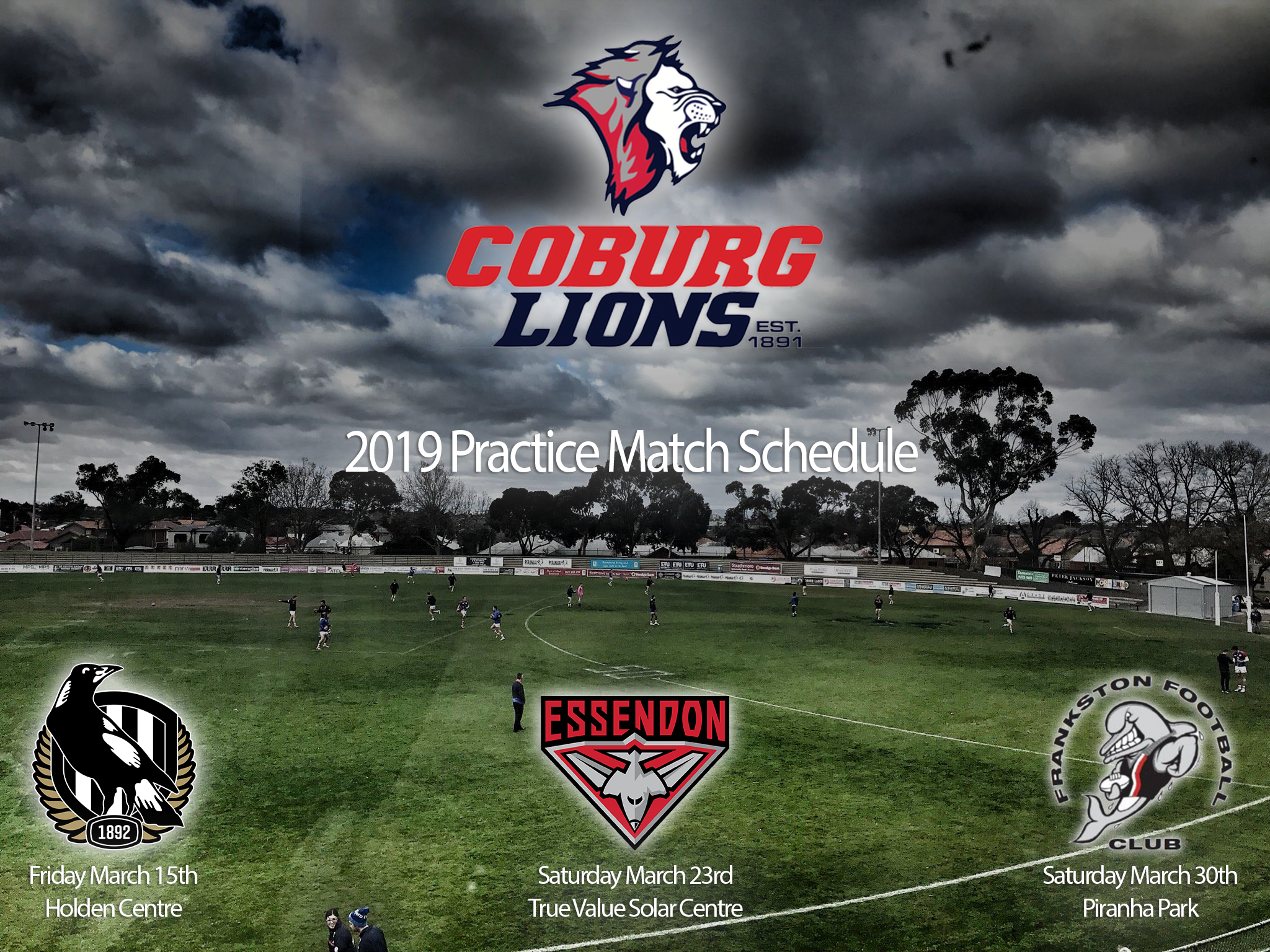 2019 Preseason Fixtures finalised  - The Official Website of